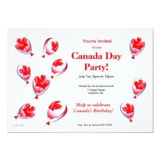 """Globos del día de Canadá Invitación 5"""" X 7"""""""