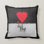 Globos del elefante y del corazón almohada