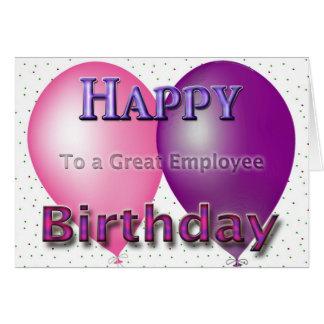 Globos del feliz cumpleaños del empleado felicitación