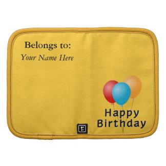Globos del feliz cumpleaños organizadores