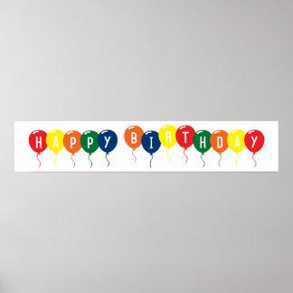 Globos del feliz cumpleaños póster