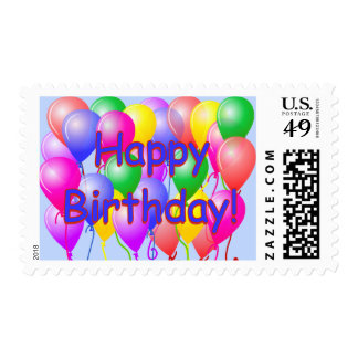 Globos del feliz cumpleaños sello