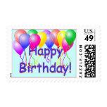 Globos del feliz cumpleaños sellos