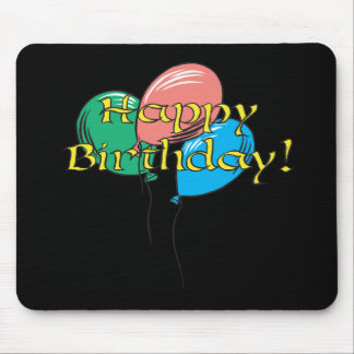 Globos del feliz cumpleaños tapete de ratones