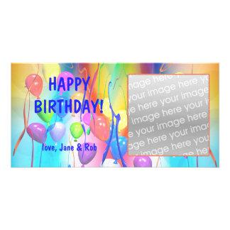 Globos del feliz cumpleaños tarjetas personales