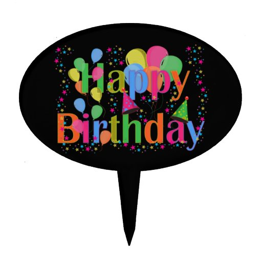 Globos del fiesta del feliz cumpleaños figuras de tarta