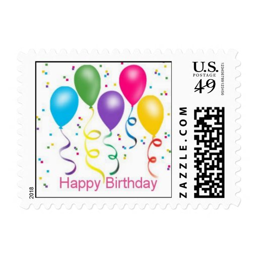 Globos del fiesta del feliz cumpleaños sellos