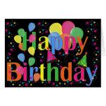 Globos del fiesta del feliz cumpleaños felicitación
