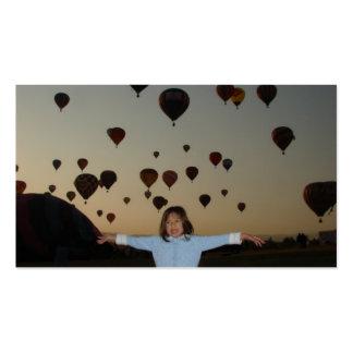 globos del niño y del aire caliente tarjetas de visita