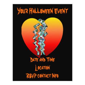 Globos del ojo del corazón de Halloween Tarjetones