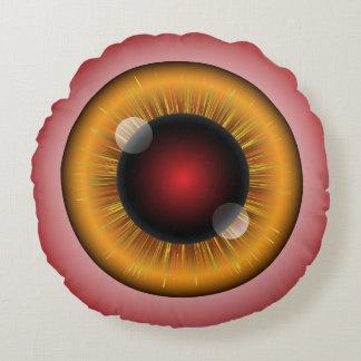 Globos del ojo del monstruo cojín redondo