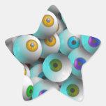 Globos del ojo pegatinas forma de estrellaes