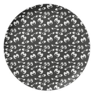 Globos del ojo platos para fiestas