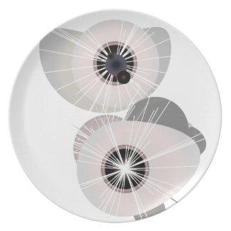 Globos del ojo plato de cena