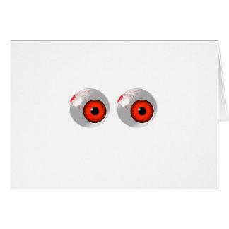 globos del ojo rojos tarjeta de felicitación