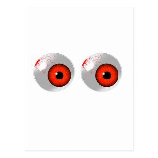 globos del ojo rojos tarjeta postal
