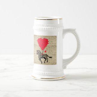 Globos divertidos de la cebra y del corazón del jarra de cerveza
