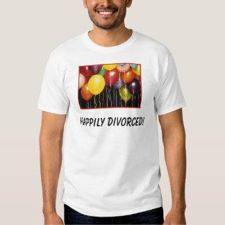 ¡globos, divorciados feliz! playera