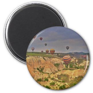 Globos en Cappadocia Imán Redondo 5 Cm