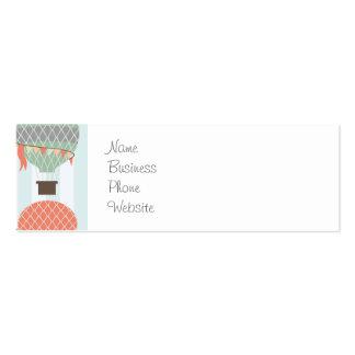 Globos en colores pastel del aire caliente que tarjetas de visita mini