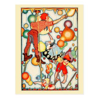 Globos en el cielo tarjeta postal