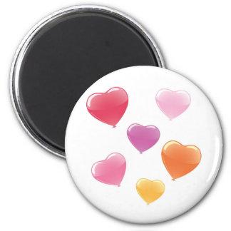 Globos en forma de corazón imán redondo 5 cm