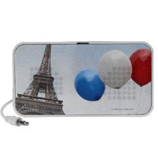 Globos en los colores de la bandera francesa adent mp3 altavoces