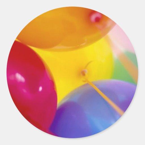globos etiqueta redonda