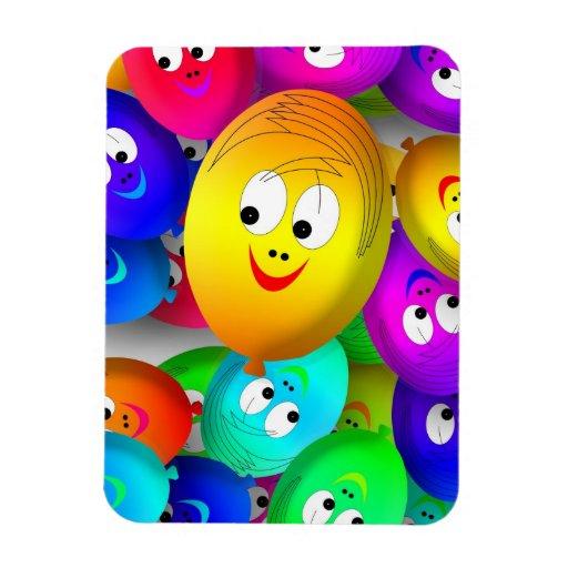 globos felices iman rectangular