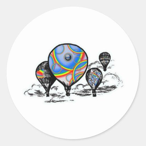 globos pegatina redonda