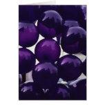 Globos púrpuras tarjeta de felicitación