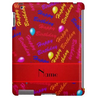 Globos rojos conocidos del feliz cumpleaños del funda para iPad