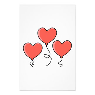 Globos rojos del corazón tarjeta publicitaria