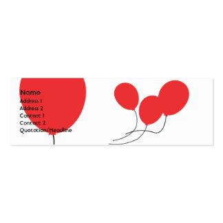 Globos rojos - flacos tarjetas de visita mini