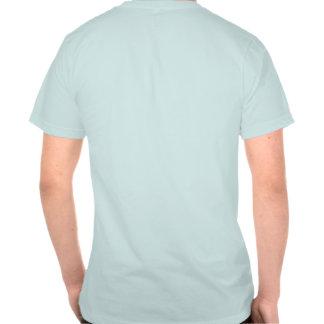 Globos rojos unisex en la camiseta azul playera
