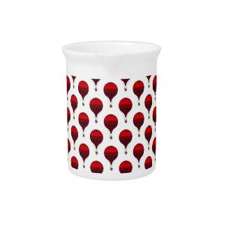 Globos románticos del aire caliente del vintage en jarrón
