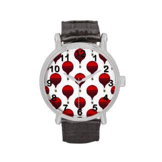 Globos románticos del aire caliente del vintage en relojes