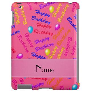 Globos rosados conocidos del feliz cumpleaños del funda para iPad