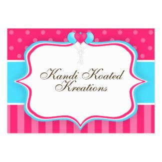 Globos rosados y azules tarjetas de visita grandes