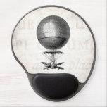 Globos viejos del dirigible retro del globo del ai alfombrilla de ratón con gel