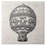 Globos viejos del dirigible retro del globo del ai azulejo ceramica