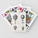 Globos viejos del dirigible retro del globo del ai cartas de juego
