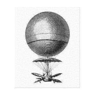 Globos viejos del dirigible retro del globo del ai impresión en lona estirada
