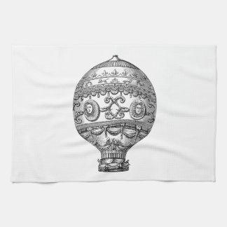 Globos viejos del dirigible retro del globo del ai toalla de mano