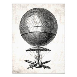 Globos viejos del dirigible retro del globo del ai fotografias