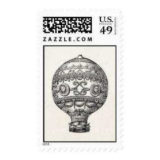 Globos viejos del dirigible retro del globo del sello