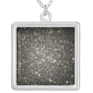 Globular cluster M13 Silver Plated Necklace