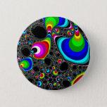 Globular Rainbow - Fractal Button