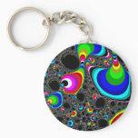 Globular Rainbow - Fractal Keychain
