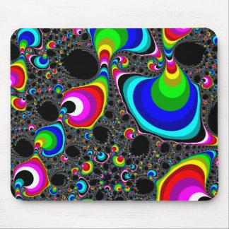 Globular Rainbow - Fractal Mouse Pad
